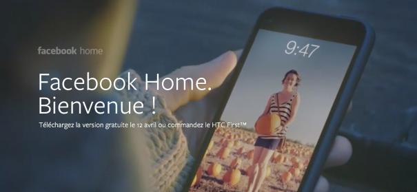 Facebook Home, la version modifiée d'Android